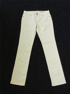NWOT NEW YORK & COMPANY OFF WHITE LOW RISE SKINNY JEANS sz 8