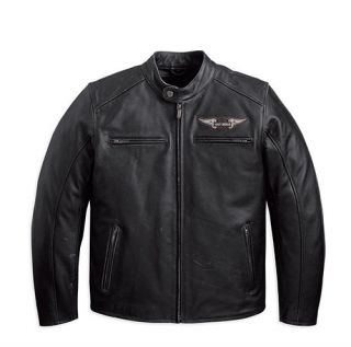 Mens Harley Davidson Birler distressed Leather Motorcycle Jacket