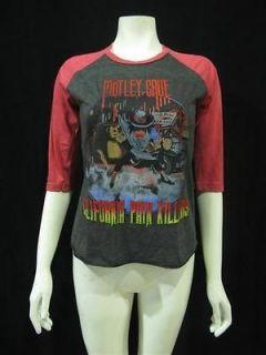 motley crue theaters of pain tour 1985 t shirt women xs