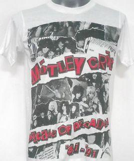 motley crue decade t shirt white size medium