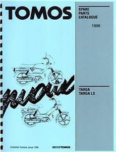 tomos targa targa lx moped parts manual 1996 time left