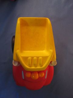 little Tonka toy red & yellow dump truck, chuck & Friends 5 in X 4 in
