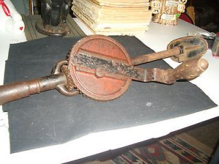 vintage antique hand crank brace drill  6