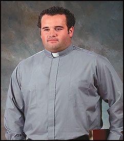 Mens Clerical Clergy Preacher Tab Collar Clergy Shirt Grey 17 1/2 36