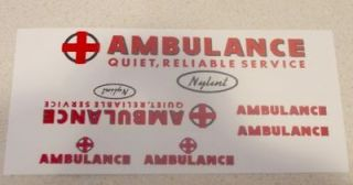 nylint ford econoline van ambulance decal set ny 034 time