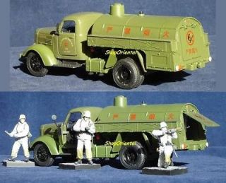 CHINA PLA ARMY MILITARY GAS Fuel TRUCK CA10 No Smooking 136 Car MODEL