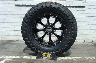 Wheels Novakane DEATH METAL Black 35x12.50 20 Toyo MT 35 tires 8 lug