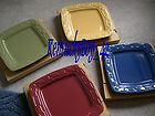 Longaberger Woven Traditions Soft Square Single Dinner Plate NIB COLOR
