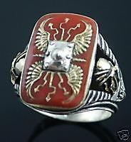 scutum roman shield men signet ring sterling silver lge time