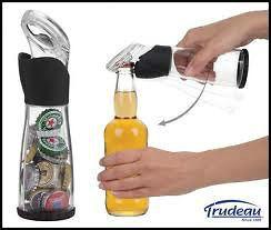 Creative Brand New Trudeau Beer Cap Catcher & Bottle Opener Holds Up