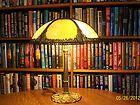 ANTIQUE RAINBOW MULTI COLOR SLAG BENT GLASS LAMP SHADE