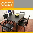 designer modern black wood dining room table and chairs buy