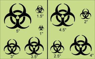 Primitive Shapes Stencil~Bio Hazard Symbol~Zombie Caution Biohazard
