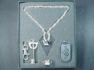Newly listed Kingdom Hearts Sora Ring Key Blade Dog Tag Necklace Set