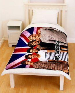 1d one direction live union jack flag fleece blanket more