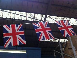 British Union Jack Uk Flag Cloth Bunting 30ft 10 Metre Diamond Jubilee