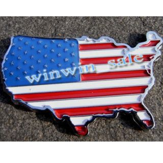 New American USA US National FLAG Car Decor 3D Decal Emblem 3M Metal