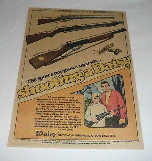 1976 daisy bb gun air rifle ad page johnny unitas
