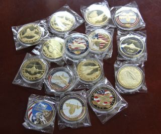 Different Military Aircraft / Challenge Coins /S510 / USAF / USN