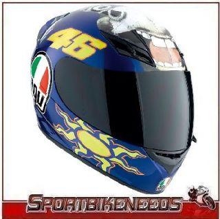 agv k3 donkey valentino rossi helmet size small s sm