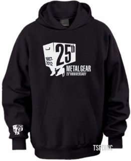 metal gear solid anniversary edition t shirt black hooded sweater