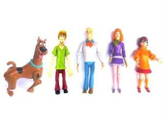 LOT 5 Pcs Scooby Doo SHAGGY DAPHNE FRED VELMA ACTION FIGURES M100