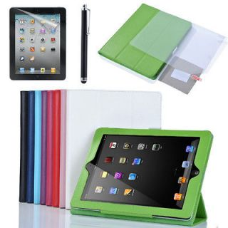 The New iPad 3rd 2 Smart Cover Slim PU Leather Case Wake Sleep Stand