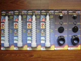 Wedco Flexible Gas Spouts + 2 Multipack Kits w Screw Caps,Stoppers