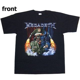 megadeth general vic rattlehead black t shirt large new time