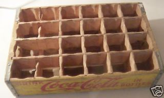 vintage coca cola coke soda wooden crate yellow time left