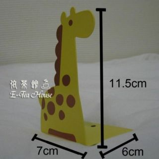 animals giraffe metal bookends book stand for kid 2pc from
