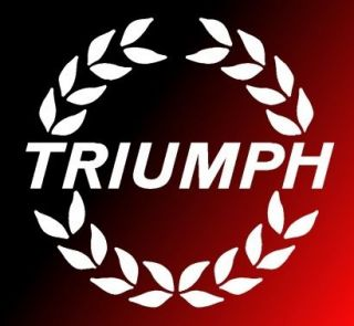 X5 TRIUMPH SPITFIRE WREATH BONNET DECAL STICKER TR7 TR8 TR3 TR4 TR6