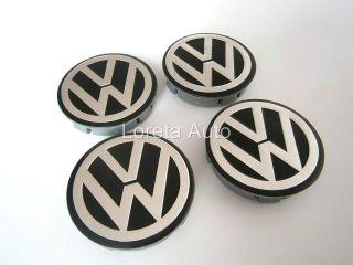 VW Aluminium Wheel Center Caps 4pcs 60mm ALLOY Rims POLO GOLF PASSAT