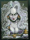 Wade Webb Original Art Sketch Card Lady Death WOW