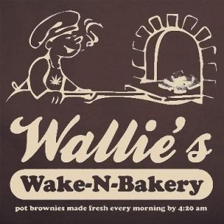 wake bake brownies marijuana thc pot weed t shirt brown
