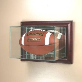 wall mounted football display case glass uv prot nfl time
