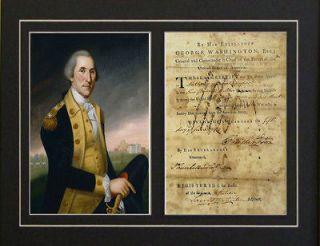 War order hand signed by George Washington autograph Rev War