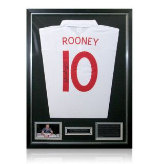 Newly listed Framed Wayne Rooney Signed Autographed England Jersey