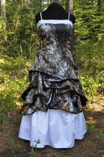 new camo wedding gown dress cus tom made in the usa