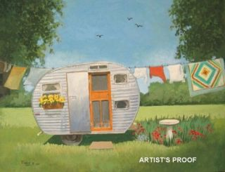 vintage travel trailer rv 57 little lil abe camper art