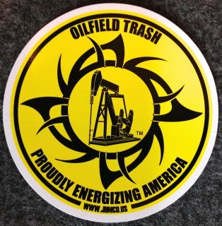 Oilfield Trash Oil well & gas pump jack sticker decal gift sign drill