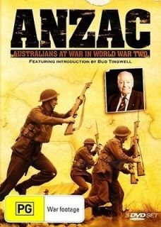 ANZAC AUSTRALIANS AT WAR IN WORLD WAR TWO~3 DVD SET~AUSSIE SOLDIERS