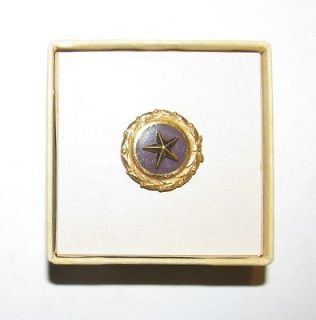 WORLD WAR TWO ERA GOLD STAR MOTHER LAPEL PIN WITH BOX IN MINT
