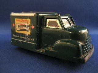 railway express agency plastic wrigley gum toy truck time left