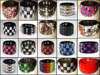 gothic punk rock emo pyramid bracelet wristband 80 s new