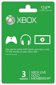 Newly listed NEW Microsoft Xbox 360 Live 12 Month Gold Membership