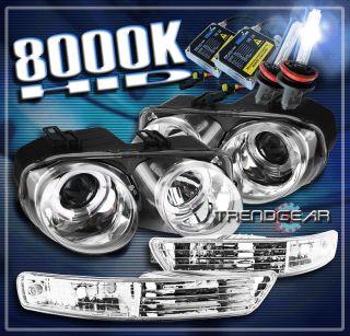 HEAD LIGHTS LAMP+BUMPER+8000K XENON HID 99 00 (Fits Acura Integra