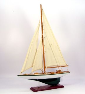 Wooden model j class racing yacht, 35cm, nautical, sail boat