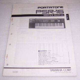 yamaha portatone psr 16 keyboard service manual from canada time