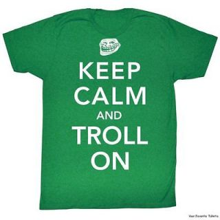 Licensed You Mad? Troll Face meme Keep Calm And Troll On Adult Shirt S